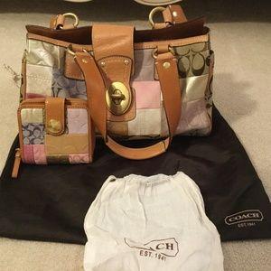 Coach handbag and wallet *set*